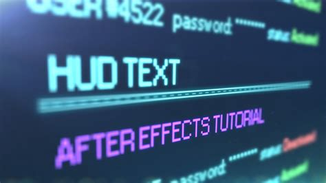 tutorial after effect text animation after effects hud text animation tutorial