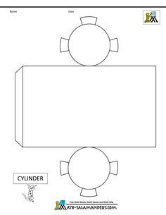 cylinder template also has templates to other 3d figures