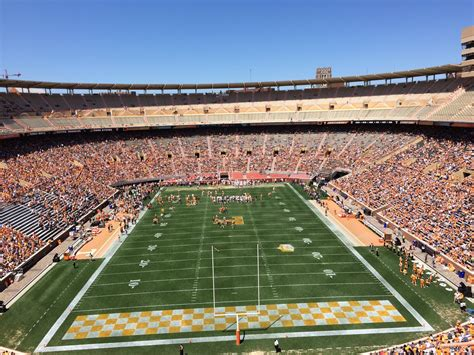 neyland stadium visitors section neyland stadium section ll rateyourseats com