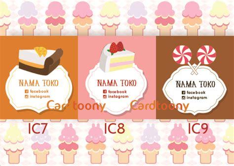 Stiker Label Nama Baju Anak Sekolah Lucu Instan harga jual sticker stiker label toko kemasan produk makanan manis kue donat pricepedia org