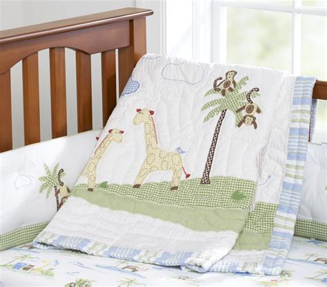 jungle nursery bedding sets jungle friends nursery bedding set pottery barn
