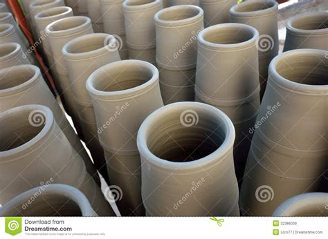 Unique Plant Pots by Handmade Tall Clay Pot Royalty Free Stock Images Image