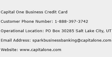 Capital One Business Credit Card Customer Service