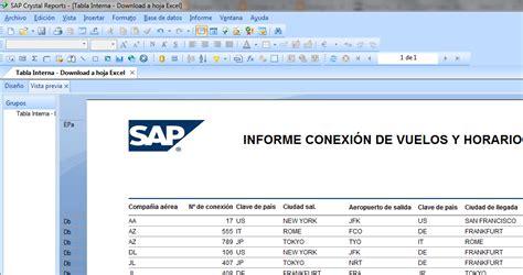 layout sap report c 243 digo de retorno integraci 243 n de crystal reports y alv