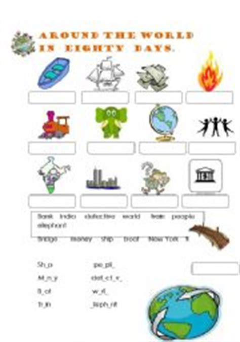 worksheets around the world in 80 days vocabulary
