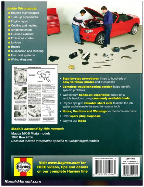 free auto repair manuals 1990 mazda mx 5 parking system haynes mazda mx 5 miata 1990 2014 auto repair manual