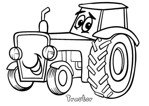 Print Out Tractor Coloring Pages