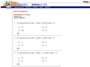 inverse variation 9th 11th grade worksheet lesson planet