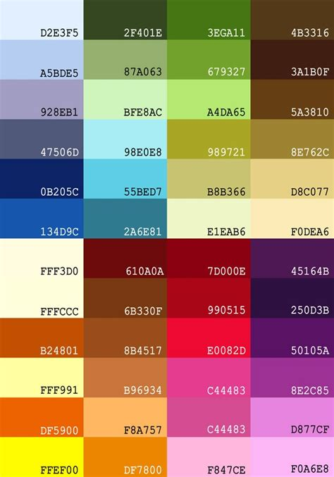 best color hex codes color groups w hex codes jewelry color ideas