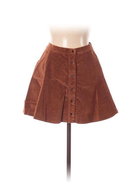 brown corduroy buttoned skirt brandy melville forwardrobe