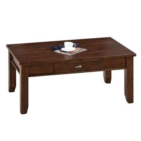 jofran coffee table in lodge brown 731 1