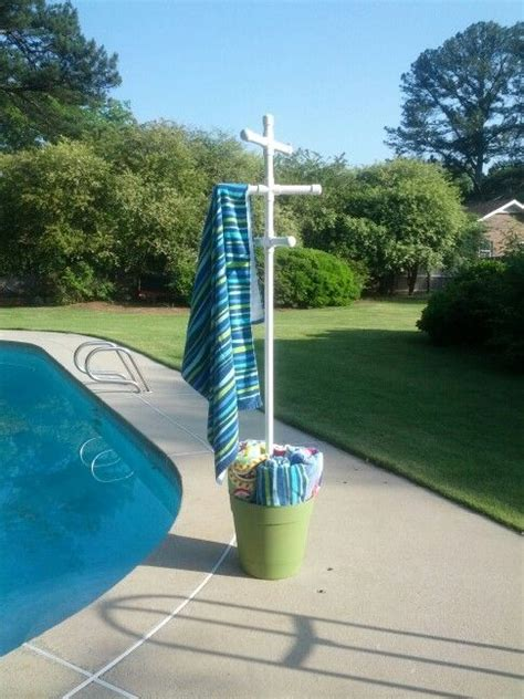 Pool Side Towel Rack by How To Make A Poolside Towel Rack Woodworking Projects