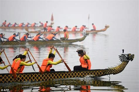 parts of a dragon boat dragon boat race splashes into hanoi daily mail online