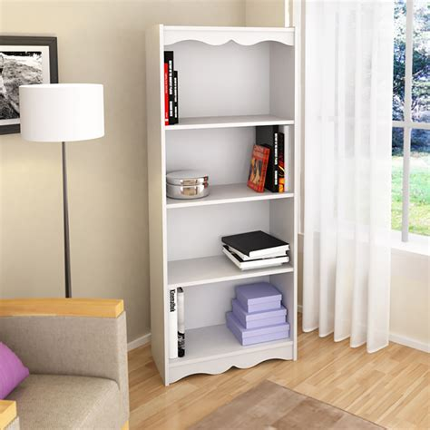 Shop Corliving Hawthorn Frost White 4 Shelf Bookcase At White 4 Shelf Bookcase