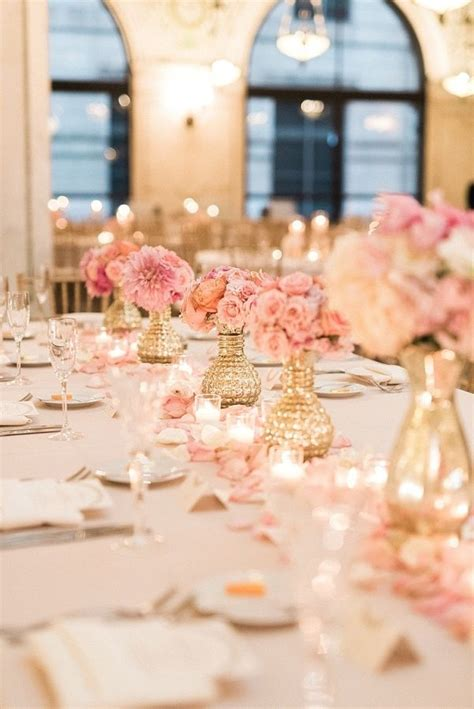 gold and table decorations best 25 blush and gold ideas on pink and gold
