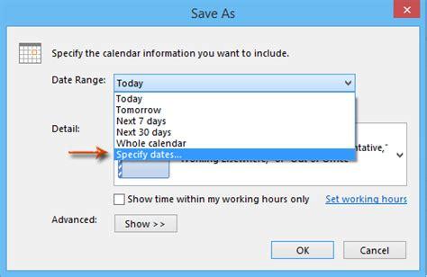 Icalendar File How To Convert Calendar To Icalendar File In Outlook