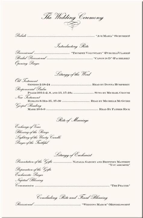 sle of wedding program wording wording exles wedding ceremony programs wedding program exles wedding program wording