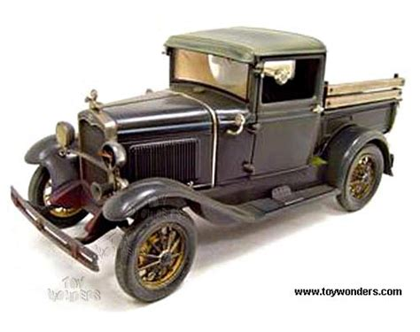 Die Cast Truck Car Build City diecast collector model cars motor city ford model a 1931 1 18 weathered rust 41005