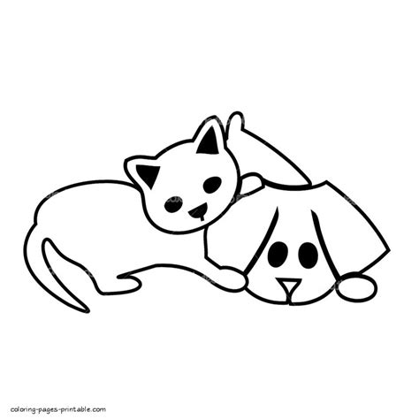 preschool coloring pages cats dog and cat coloring pages coloringsuite com