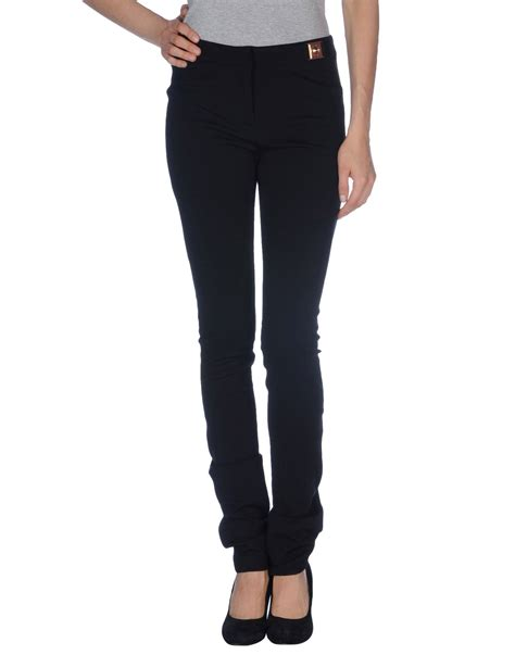 versace black casual trouser lyst