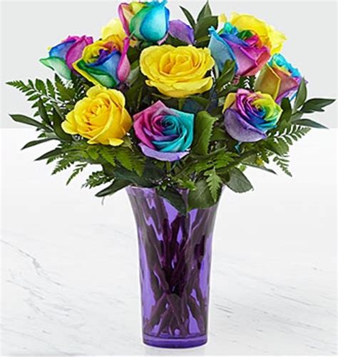 rainbow colored roses a picture of rainbow flowers impremedia net