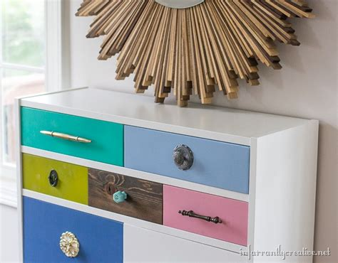 ikea multi coloured chest of drawers ikea billy bookcase to drawer hack infarrantly creative