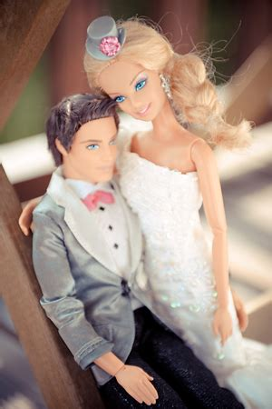 eco glamazine: barbie and ken get married