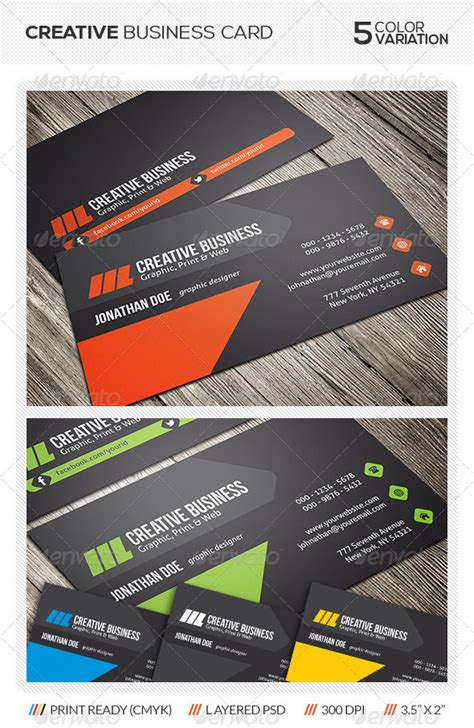 creative business card print templates creative business card design graphicriver