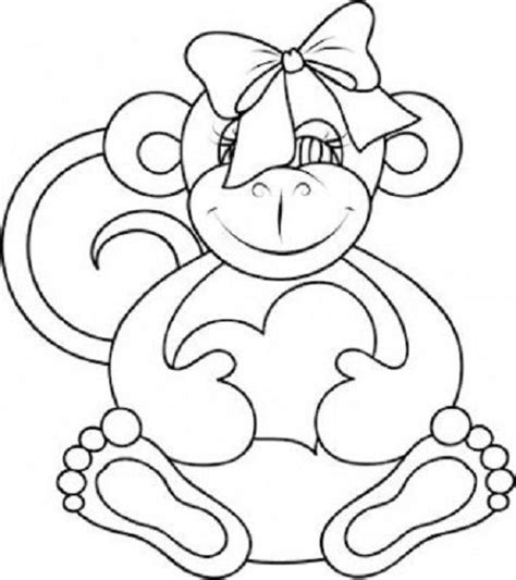 monkey valentine coloring pages 1000 images about monkey colouring pages on pinterest