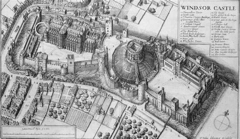 One Balmoral Floor Plan The Stuarts Windsor Castle Birds Eye View 17th Century By