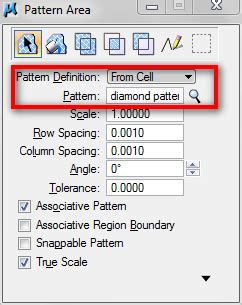pattern library definition using microstation cell as points terminators and