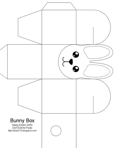 free box templates easter box easter bunny easter crafts for free