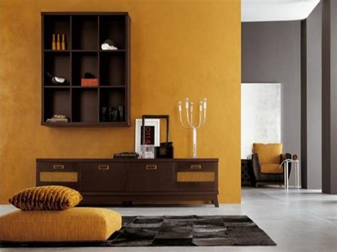 living room orange paint colors themes design with varnished modern furniture theme