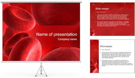 Blood Cells Powerpoint Template Backgrounds Id Blood Ppt Templates Free