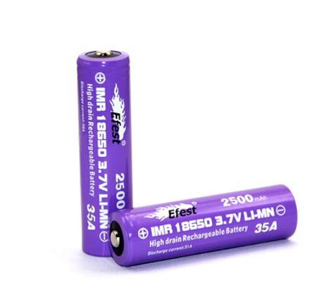 Batrei 18650 Efest 2500mah 35a efest imr 18650 2500mah 35a flat top battery vapable