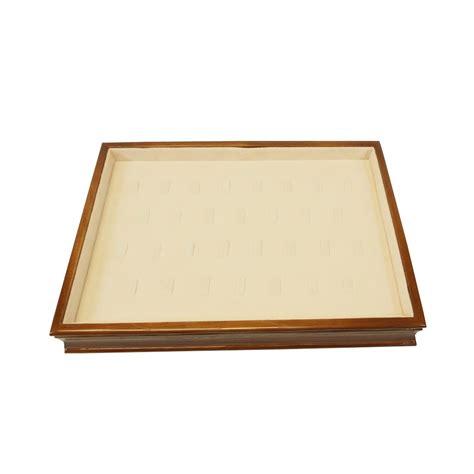 walnut beige ring tray w clip stacking trays jewelry