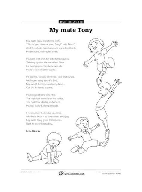 poetry themes ks2 my mate tony poem primary ks2 teaching resource