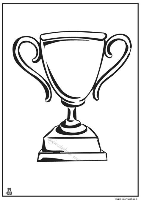 trophy sport corloring pages printable 03 magic color book