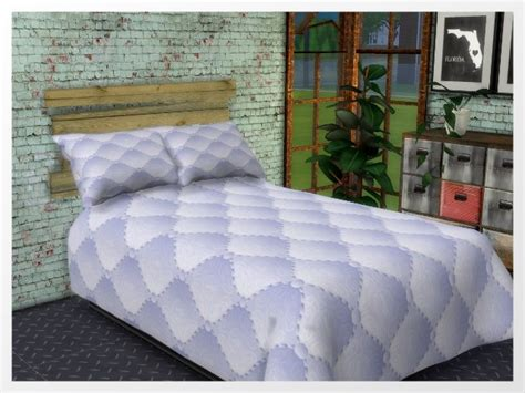 duvets pillows and headboard by oldbox at all 4 sims