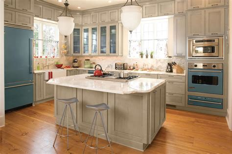 Southern Home And Kitchen by Blue And Gray Kitchen Idea House Kitchen Design Ideas