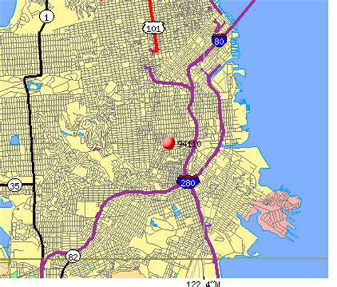 zip code map san francisco san francisco zip code map