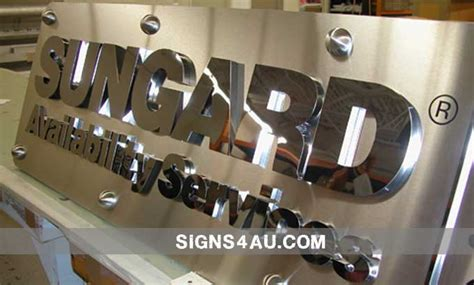 stainless steel office signs stainless steel signs