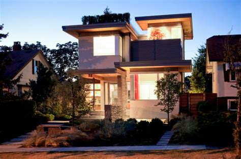 leed home plans design ideas for flat roofed buildings