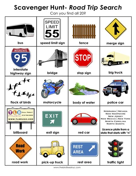 printable road trip scavenger hunt public scavenger hunts in nyc party invitations ideas