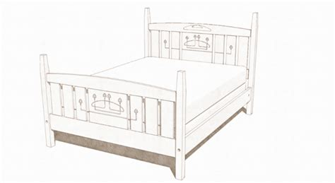 bed sketch drawing an inlay pattern in sketchup finewoodworking