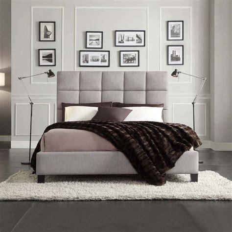 Upholstered Bed Deals Inspire Q Fenton Grey Linen Panel Upholstered Platform Bed