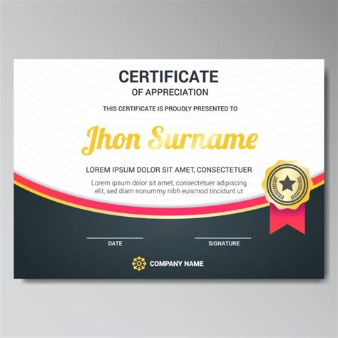 section 149 certificate certificate template design vector free download