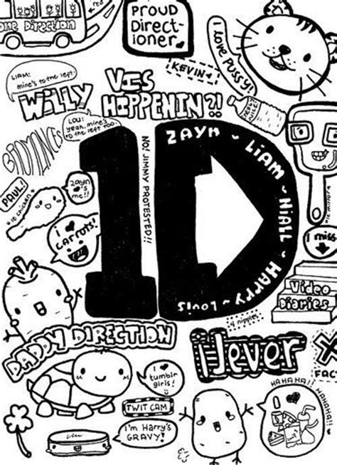 doodle one direction one direction coloring pages for one direction