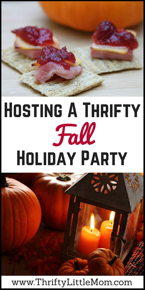 hosting a thrifty fall holiday party 187 thrifty little mom