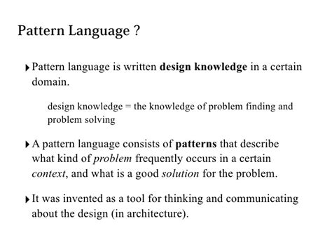 pattern languages of program design pdf experience mining and dialogues with a pattern language